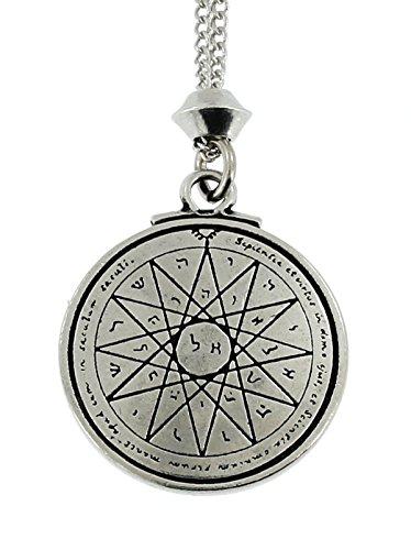 Handmade Tetragrammaton Talisman For Wisdom Key of Solomon Seal Pentacle Pewter Power Pendant (with 22 inch Chain)