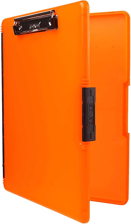 13.75 x 9.5 Inch Orange Orange Dexas Clearview Clipcase Dry Erase clipboard