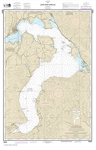 NOAA Chart 18554: Lake Pend Oreille 41.3 x 26.6 (TRADITIONAL) by Paradise Cay Publications
