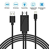 Lightning to HDMI, KingYue Lightning Digital AV to HDMI Adapter, 1080P HDTV Cable with Cooling Vents for Apple iPhone X/8/7/6/5 Series, iPad, iPod Touch,Plug and Play (Black)