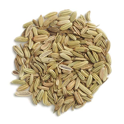 Frontier Co-op Fennel Seed Whole, Kosher, Non-irradiated | 1 lb. Bulk Bag | Foeniculum vulgare Mill.