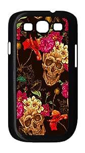 [case forcolor]:Flowers skull Hard Case for samsung s3.