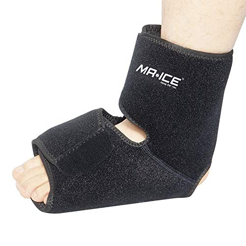 Elbow Foot and Ankle Large Ice Wrap Support with 2 Gel Hot Cold Therapy Packs, Ice Heat Reusable Gel Pack, Perfect for Achilles Tendon Injuries, Plantar Fasciitis, Bursitis, Sore Feet
