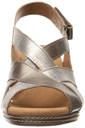 Multi Helio Metallic Womens Womens Metallic Wedge Sandal Clarks Wedge Helio Sandal Coral Clarks Coral BaqOOH