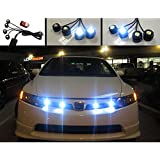 Rupse® New Eagle Eye LED Knight Night Rider Scanner Lighting DRL with Remote 4 Pcs