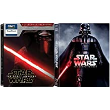 Star Wars: The Complete Saga (Episodes I-VII) 7 movie set - Star Wars Steelbook Blu Ray The Force Awakens Exclusive / Empire Strikes Back / Return of the Jedi movies 1-7