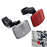 MFC PRO Quality Bike Front&Rear Reflectors Kit for Handlebar and Seatpost (Red+White)