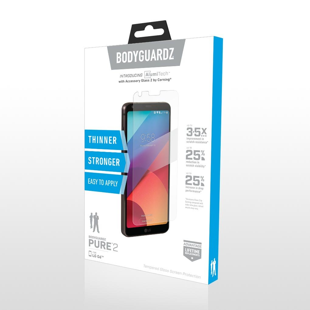 Amazon.com: BodyGuardz - Pure 2 Glass Screen Protector, Ultra-thin ...
