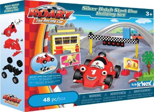 K'NEX Roary Silver Hatch Start Line Building - Race Car Knex