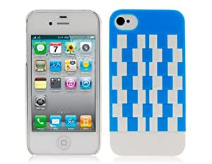 TPU Magic Cube Designed Protective Case for iPhone 4 4S (Blue) + Worldwide free shiping