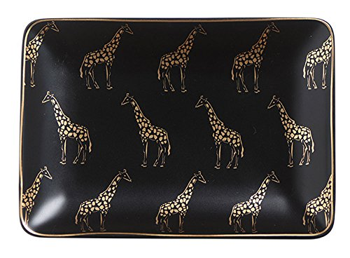 Giraffe Zebra Ceramic Ring Dish Holder Jewelry Holder Trinket Dish, Dessert Plate, Home Decor, Valentines Gift - Giraffe Tray