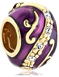 Flower Yellow Imperial Easter Faberge Egg Beads For Bracelet