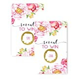 Floral Scratch Off Party Game Card 28 Pack