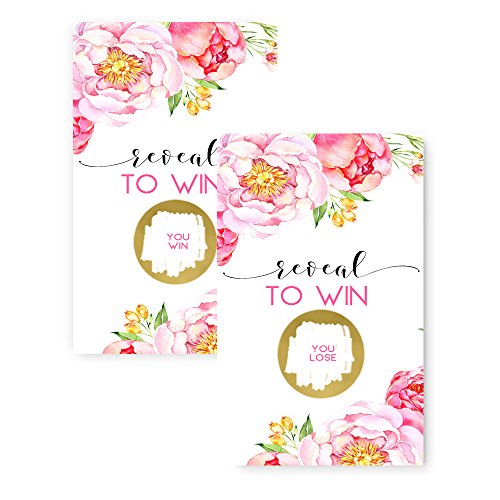 Floral Scratch Off Party Game Card 28 Pack (Game 3 Ticket)