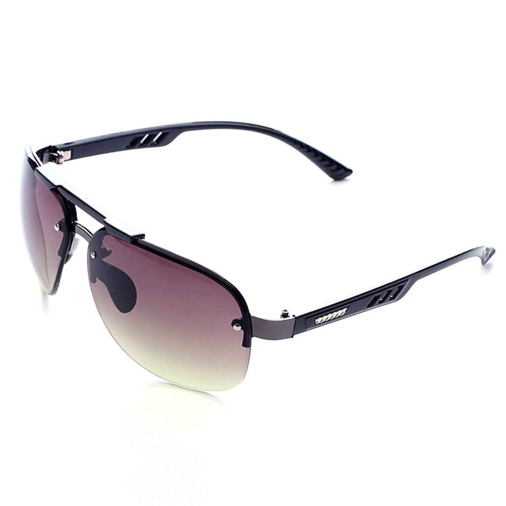 Junecat Man Boy Fishing Eyeglasses Sunblock Rimless Sunglasses Clear Lens Sun Glasses HD Visual Eyewear Shades