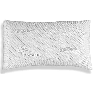 Xtreme Comforts Slim Hypoallergenic Shredded Memory Foam King Bamboo Pillow with Cover