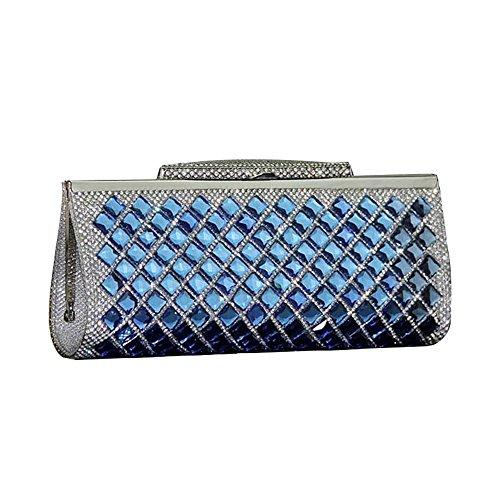 Bleu Pochette pour UNYU femme clutch evening q7wFAxUXA