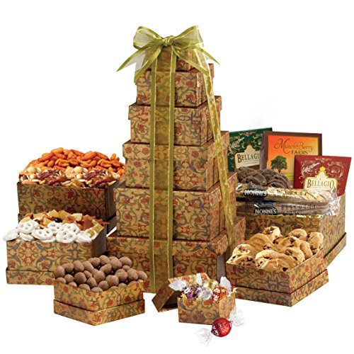 Broadway Basketeers Ultimate Happy Birthday Gourmet Gift Tower (Tray Gift Ultimate)