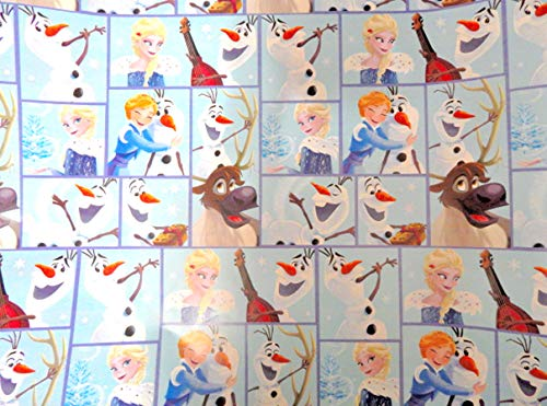 Disney FROZEN Wrapping Paper - 70 sq -