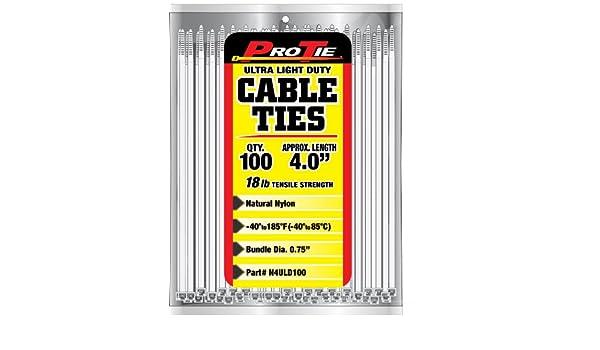 Pro corbata B4Uld100 (Ultra Light Duty estándar atadura de cables ...