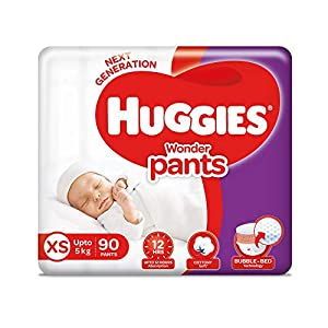 Huggies Wonder Pants Extra Small Size Diaper Pants (90 Count)