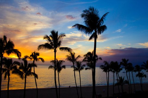 Hawaii Sunset from Kaanapali, Maui by