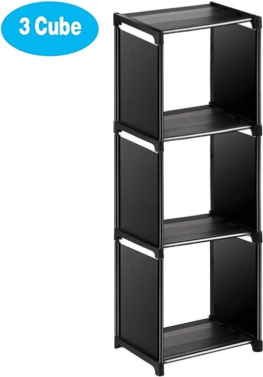 Sorbus 3-Shelf Cube Storage Organizer Stackable Organizer Furniture for...