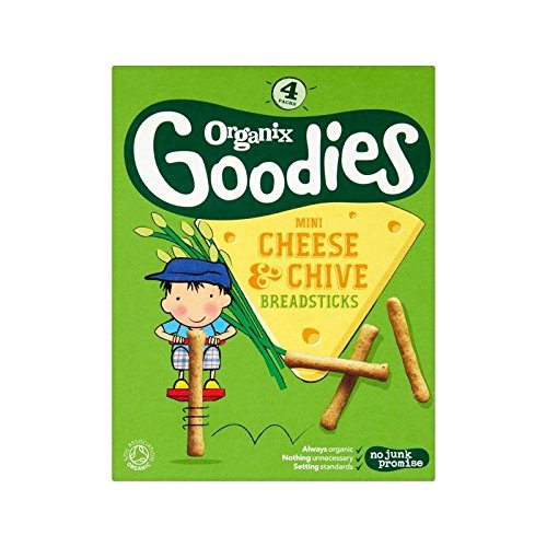 Organix Goodies Cheese & Chive Breadstick 4 x 20g - Pack of 6