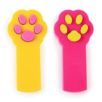 pipitao mascota interactiva LED luz puntero arañazos Herramienta de formación, diseño de huella, color