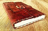 GbagT Handmade Leather Journal Genuine Leather Notebook Journal Diary Sketchbook Everyday Small Book Vintage leather blank book