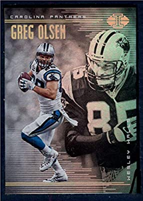 Amazon.com  2018 Panini Illusions Football  65 Greg Olsen Wesley Walls Carolina  Panthers Official NFL Trading Card  Collectibles   Fine Art a773c5ca4