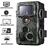 Yantop Upgraded Trail Camera with 0.2s Trigger Time, 120° Wide Angle, 12MP 1080P, Night Vision Game & Hunting Camera, Low Glow Infrared 42 PCS LEDs, 20m/65ft, IP66 Spray Waterproof Wildlife Camera
