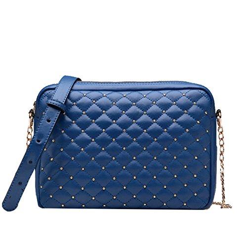 Yy.f Cadena Lingge Pequeña Bolsita Nuevos Bolsos De Mano Hombro De La Moda Mensajero Pequeña Bolsa Bolsas De 3 Colores Blue