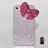 3D Swarovski Luxury AB Crystals Bling Case Cover for iphone 4 / 4s 100% Handcrafted