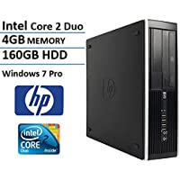 HP Elite 6000 Premium Small Form Factor Business Desktop Computer (Intel Core 2 Duo CPU 3.06GHz Processor, 4GB DDR3 Memory, 160GB HDD, DVD, Windows 7 Professional) (Certified Refurbished)