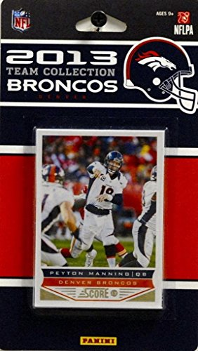 2013 Nfl Draft - Denver Broncos 2013 Score NFL Football Factory Sealed 10 Card Team Set featuring Peyton Manning