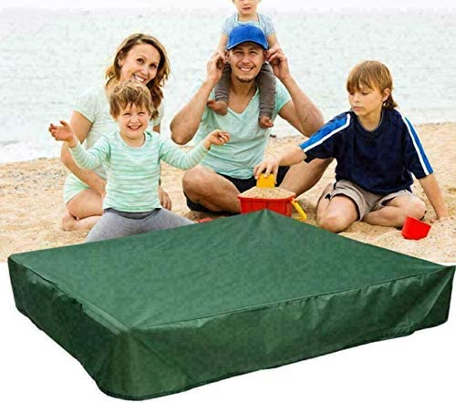 Maius Sandbox Cover Sandpit Pool Cover Sandbox Canopy with Drawstring Square Protective Cover for Sand and Toys Away from Dust and Rain