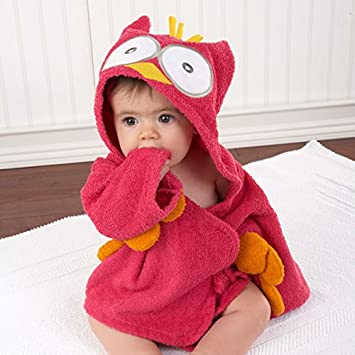 Mother & Kids 100% Cotton Baby Towel Baby Kids Spa Towel Hooded Cartoon Animal Modeling Baby Bathrobe Children Kids Bath Robe Beach Towels Towels