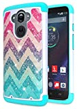 Droid Turbo Case, NageBee Glitter Diamond Shiny Sparkle Studded Rhinestone Bling Cover Silicone Design Girly Cute Case for Motorola Moto Droid Turbo XT1254 (Fits Ballistic Nylon Version) -Wave