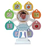 Wind up Music Box Vintage Look Music Box With Jewelry Box - Table Desk Decoration and Gift (Ferris Wheel, White)