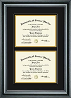 perfect cases pcfrm d4pm 85 x 11 in double diploma frame for diploma - Diploma Tassel Frame