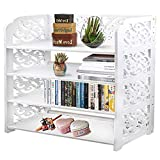 Met Life - WPC Multipurpose Shoe Rack & Book Shelf, L24' x W9.5' x H26' 4 Tiers, Tall & Wide, Environmental Friendly Material | White