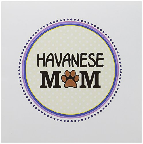 Mum Print (3dRose Havanese Dog Mom - Doggie mama by breed - paw print mum love - doggy lover - Greeting Cards, 6 x 6 inches, set of 12 (gc_151757_2))