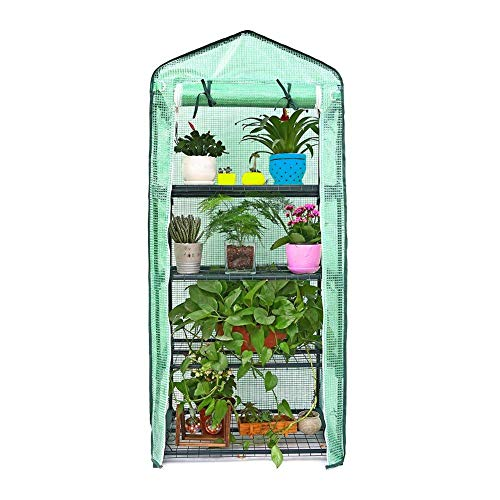 6949155cm PE Mini Greenhouses Plastic Green House Compact Walk In Plastic PE Greenhouse Without Iron Stand Strong…