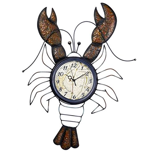 Time To Wine Lobster Wall Clock - By Ganz