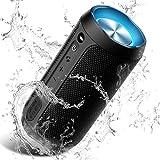 COOCHEER Wireless Speaker Bluetooth, COOCHEER 24W Bluetooth Portable Speaker with Party Light, IP67 Waterproof Portable Wireless Speakers for Outdoor, TWS, 20+Hour Playtime, Built-in mic,Dustproof