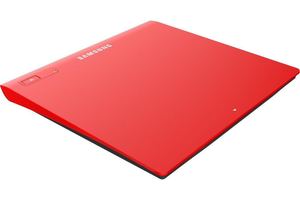 SAMSUNG TSST Ultra-Slim Optical Drives SE-208GB/RSRD Red, M-Disc Support, MAC OS X compatible