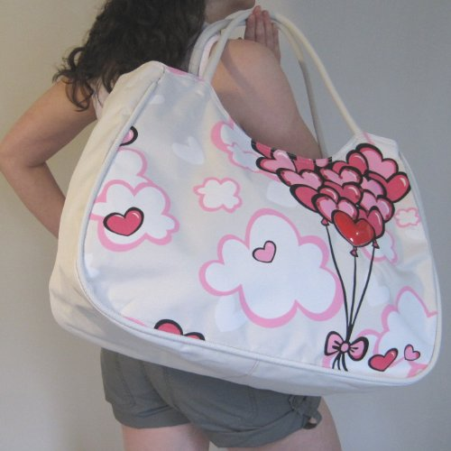 X Bag Beach 52cm Bunch Large Hearts w Balloons d h 33cm 21cm HR0gqRwa