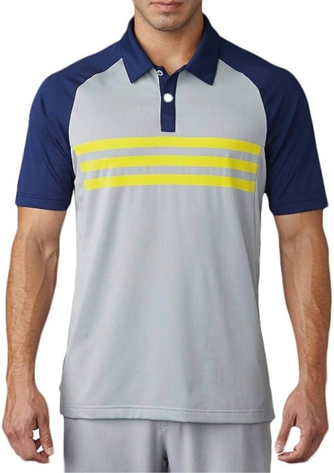 adidas para Hombre de Golf Climacool 3 Stripe Competencia Polo ...