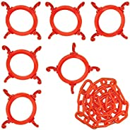 Mr. Chain 97413-KIT Cone Chain Connector Kit, Traffic Orange